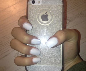 iphone, nails, and sparkly image