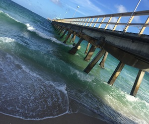 blue, dock, and florida image