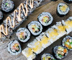 sushi, Easy, and healthy image