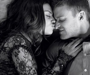 Mila Kunis, justin timberlake, and love image