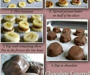 banana, chocolate, and diy image
