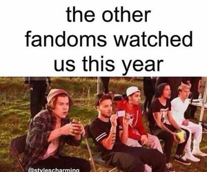one direction, fandom, and funny image