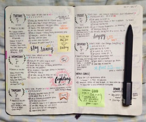 inspiration, week, and bullet journal image