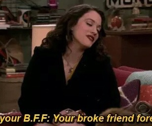 bff, 2 broke girls, and funny image