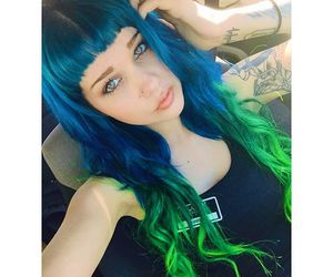 aesthetic, blue hair, and ambrehhh image