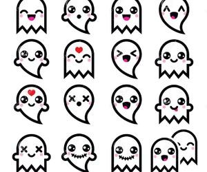 ghost, kawaii, and cute image