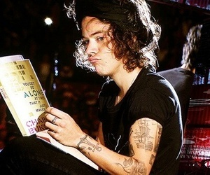 Harry Styles, one direction, and book image