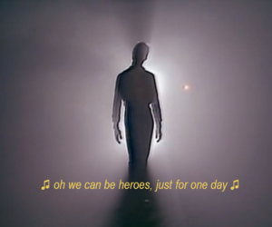 david bowie, heroes, and rip image
