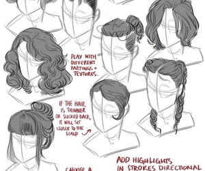 draw, hair, and tutorial image