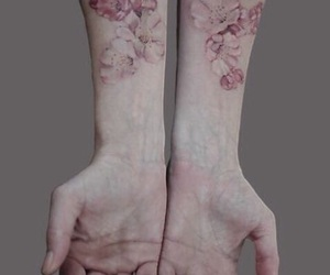 arms, blossom, and art image