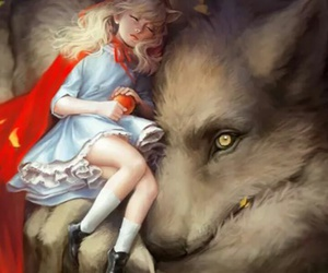 wolf, art, and fantasy image
