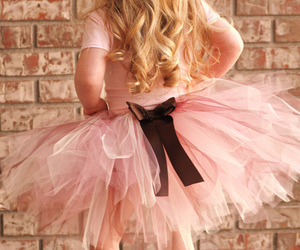 blonde, child, and pink image