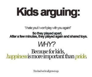 happiness, kids, and arguing image