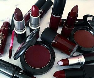 makeup, red, and mac image