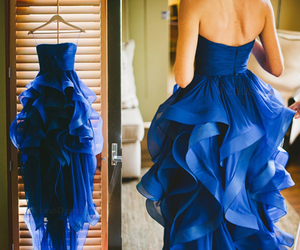 blue wedding, prom dresses, and party dresses image