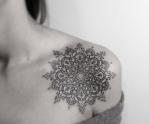 tattoo, mandala, and tumblr image