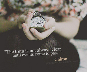 clock, text, and truth image