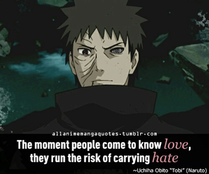 naruto, quote, and uchiha obito image