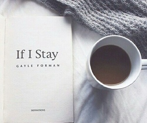 book, coffee, and if i stay image