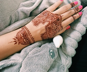 elephant, henna, and henna tattoo image