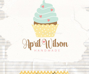 etsy, graphic design, and cupcake logo image