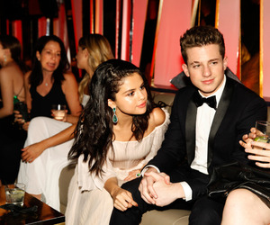 selena gomez, charlie puth, and golden globe awards party image
