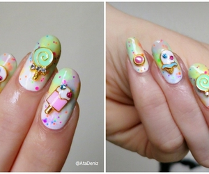 candy, nail art, and pastel image