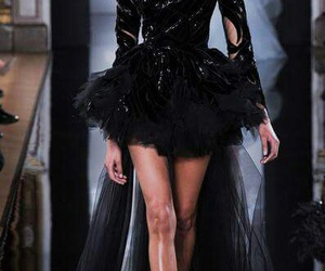 black dress, collection, and fashion image