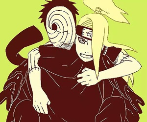 naruto, obito, and deidara image