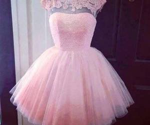dress, pink, and photography image