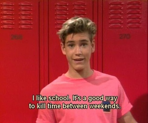 school, funny, and saved by the bell image