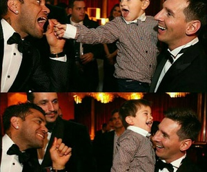 baby, Barca, and messi image