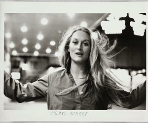 meryl streep, actress, and black and white image
