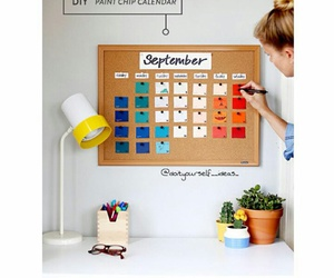 calendar, colorful, and diy image
