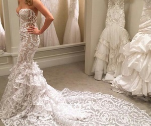 dress, bridal, and fashion image