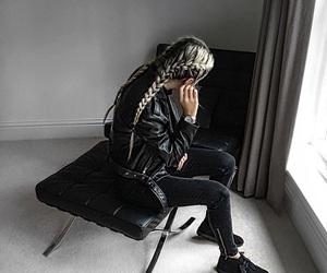 braid, black, and fashion image