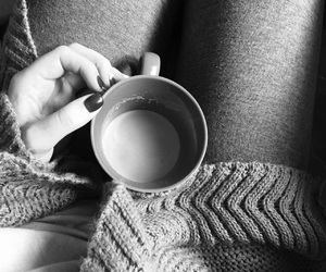 black, black and white, and coffee image