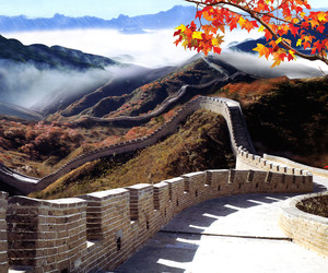 china, autumn, and wall image