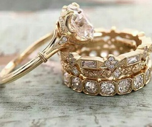 gold, ring, and wedding image