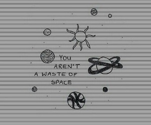 space, grunge, and quotes image