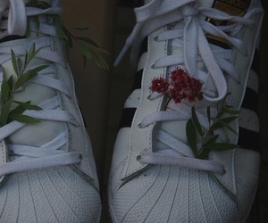adidas, flowers, and aesthetic image