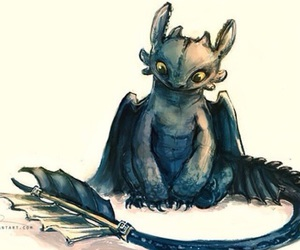 toothless, dragon, and art image