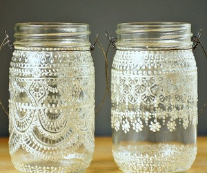 diy, lace, and jar image