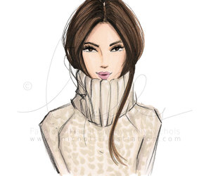 etsy, fashion illustration, and print image