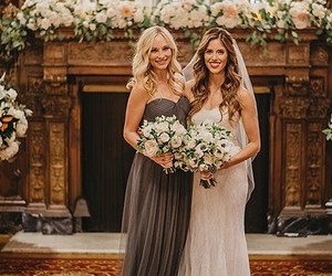 candice accola, kayla ewell, and wedding image
