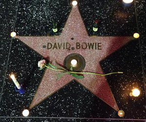 david bowie, rip, and stars image