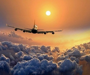 fly, travel, and sun image