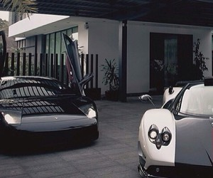 car, house, and Lamborghini image