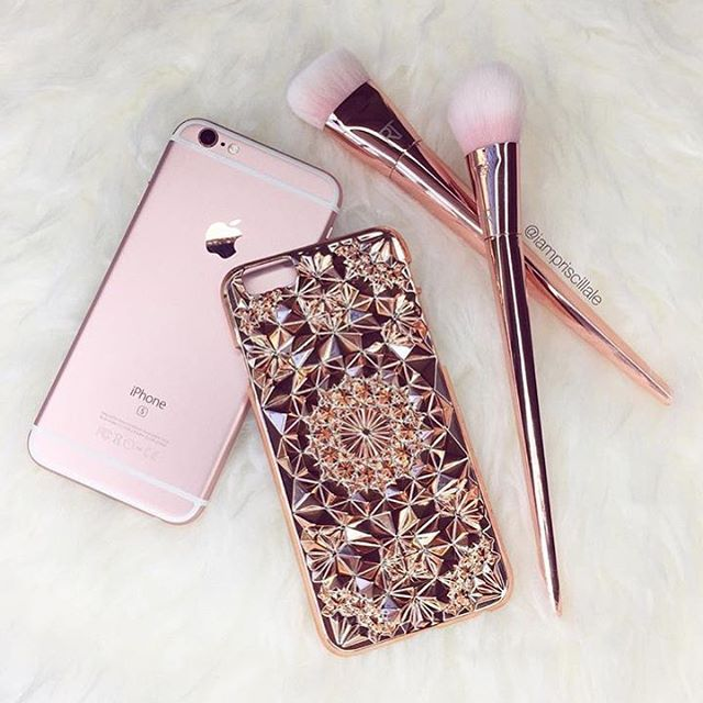 Felony Case No Instagram Rose Gold Kaleidoscope Case For