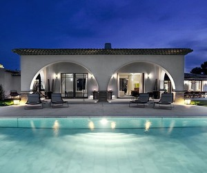pool, villa, and home image